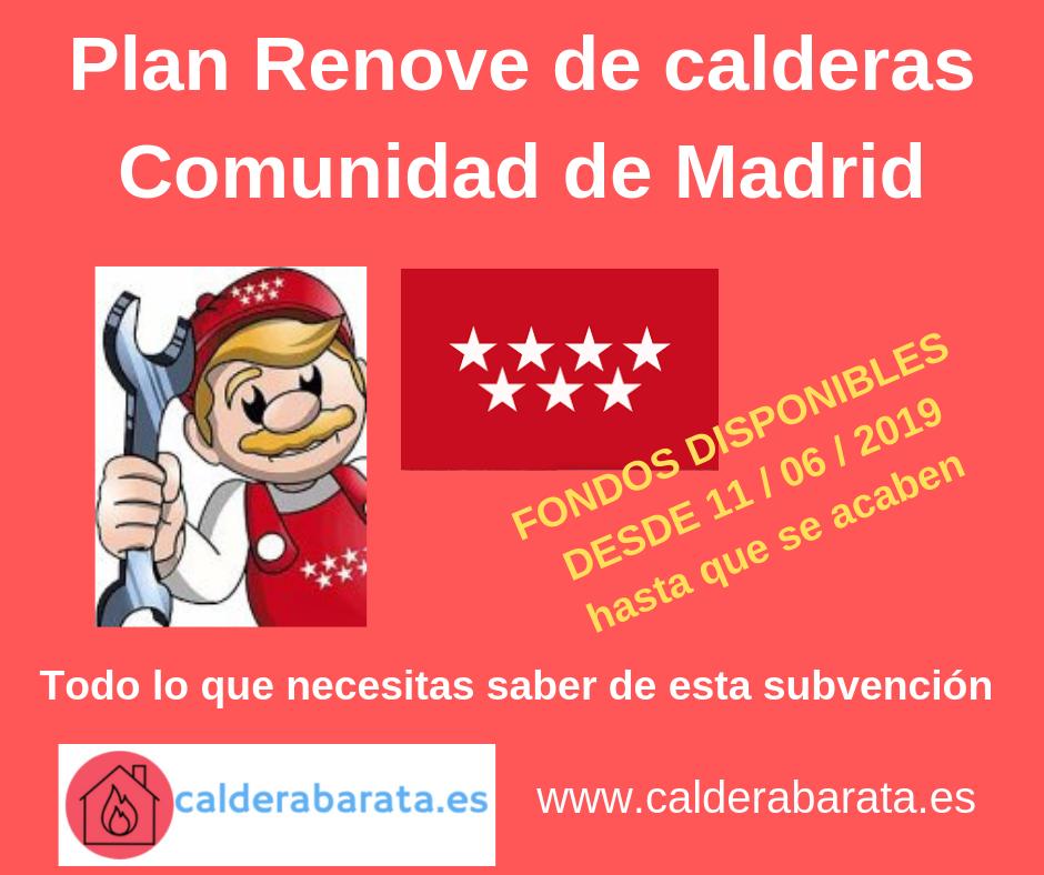 plan renove calderas de condensacion madrid 2019